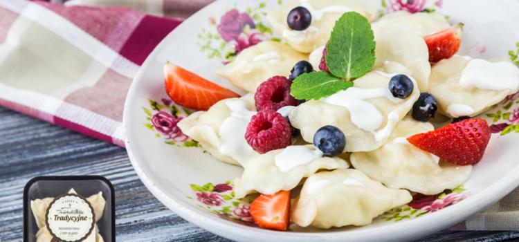 Bieszczadzkie pierogi z serem na słodko